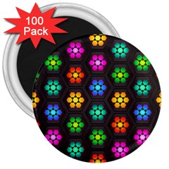 Pattern Background Colorful Design 3  Magnets (100 pack)