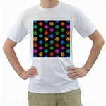 Pattern Background Colorful Design Men s T-Shirt (White) (Two Sided)