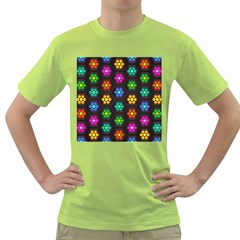 Pattern Background Colorful Design Green T-Shirt