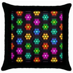 Pattern Background Colorful Design Throw Pillow Case (Black)
