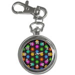 Pattern Background Colorful Design Key Chain Watches