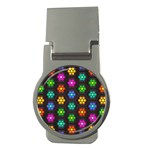 Pattern Background Colorful Design Money Clips (Round)