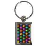 Pattern Background Colorful Design Key Chains (Rectangle)