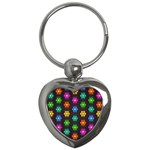 Pattern Background Colorful Design Key Chains (Heart)