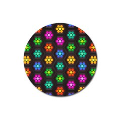 Pattern Background Colorful Design Magnet 3  (Round)