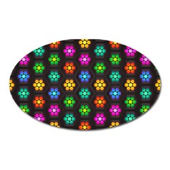 Pattern Background Colorful Design Oval Magnet