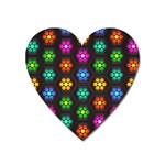 Pattern Background Colorful Design Heart Magnet
