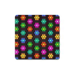 Pattern Background Colorful Design Square Magnet