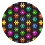 Pattern Background Colorful Design Magnet 5  (Round)