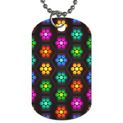 Pattern Background Colorful Design Dog Tag (One Side)