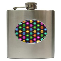 Pattern Background Colorful Design Hip Flask (6 oz)