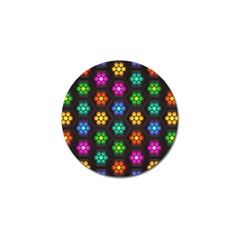 Pattern Background Colorful Design Golf Ball Marker