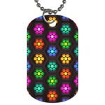 Pattern Background Colorful Design Dog Tag (Two Sides)