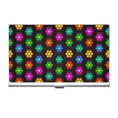 Pattern Background Colorful Design Business Card Holders