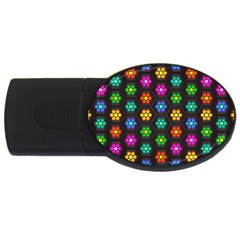 Pattern Background Colorful Design USB Flash Drive Oval (2 GB)