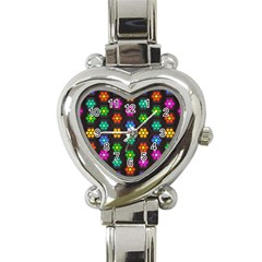 Pattern Background Colorful Design Heart Italian Charm Watch