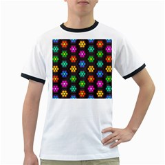 Pattern Background Colorful Design Ringer T-Shirts