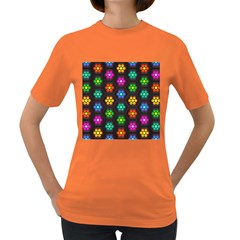 Pattern Background Colorful Design Women s Dark T-Shirt