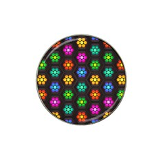 Pattern Background Colorful Design Hat Clip Ball Marker (4 pack)