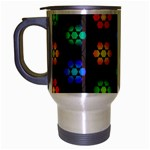 Pattern Background Colorful Design Travel Mug (Silver Gray)