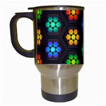 Pattern Background Colorful Design Travel Mugs (White)