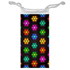 Pattern Background Colorful Design Jewelry Bag
