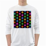 Pattern Background Colorful Design White Long Sleeve T-Shirts