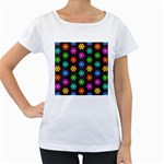 Pattern Background Colorful Design Women s Loose-Fit T-Shirt (White)