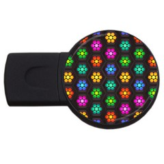 Pattern Background Colorful Design USB Flash Drive Round (4 GB)