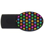 Pattern Background Colorful Design USB Flash Drive Oval (4 GB)