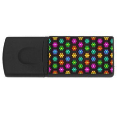 Pattern Background Colorful Design USB Flash Drive Rectangular (4 GB)