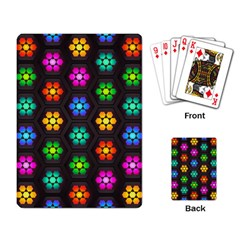 Pattern Background Colorful Design Playing Card