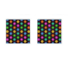 Pattern Background Colorful Design Cufflinks (Square)