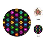 Pattern Background Colorful Design Playing Cards (Round)