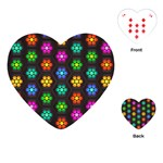 Pattern Background Colorful Design Playing Cards (Heart)