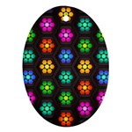 Pattern Background Colorful Design Oval Ornament (Two Sides)