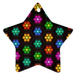 Pattern Background Colorful Design Star Ornament (Two Sides)