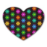 Pattern Background Colorful Design Heart Mousepads