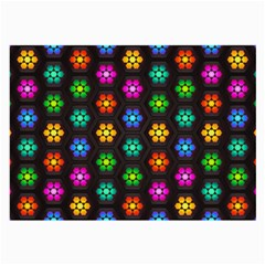 Pattern Background Colorful Design Large Glasses Cloth (2-Side)