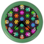 Pattern Background Colorful Design Color Wall Clocks