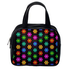 Pattern Background Colorful Design Classic Handbags (One Side)