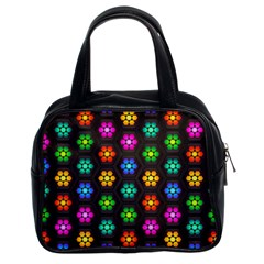 Pattern Background Colorful Design Classic Handbags (2 Sides)