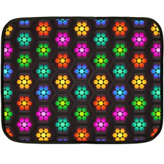 Pattern Background Colorful Design Double Sided Fleece Blanket (Mini)