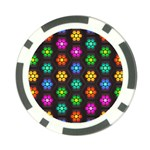 Pattern Background Colorful Design Poker Chip Card Guards (10 pack)