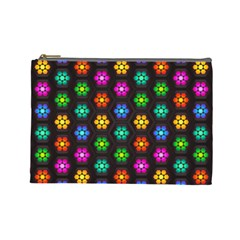 Pattern Background Colorful Design Cosmetic Bag (Large)
