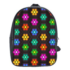 Pattern Background Colorful Design School Bags(Large)