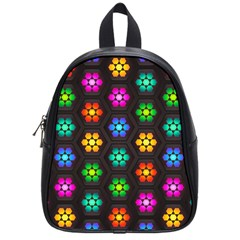 Pattern Background Colorful Design School Bags (Small)