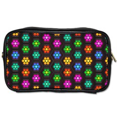 Pattern Background Colorful Design Toiletries Bags 2-Side
