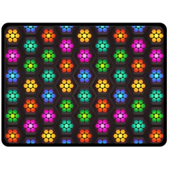 Pattern Background Colorful Design Fleece Blanket (Large)