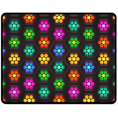 Pattern Background Colorful Design Fleece Blanket (Medium)